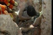 Émouvante photo d'un père qui a sacrifié sa vie pour sauver sa fille dans un effondrement