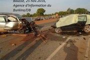 Boussé: 4 personnes tuées dans un accident de circulation