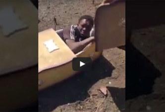 (Vidéo) Afrique du Sud: Un Blanc tente d'enfermer un jeune noir vivant dans un cercueil