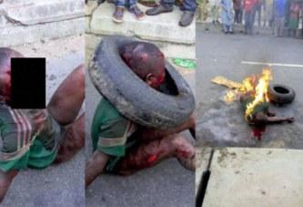 Nigeria : un enfant brûlé vif pour avoir tenté de voler de la farine de manioc  »tapioca »…Photo