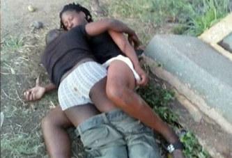 Deux amants ivres tentent d'avoir des rapports sexuels dans la rue (photos)