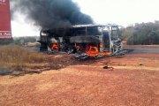 Burkina Faso: Un car de transport TSR prend feu en pleine circulation