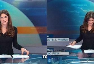 Cette présentatrice italienne a été trahie par la table transparente