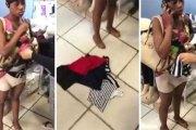 (Vidéo): Une voleuse prise avec près de 9 vêtements cachés dans son slip