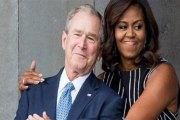 USA: George Bush se confie sur son improbable amitié pour Michelle Obama