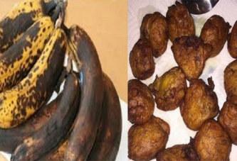 Le plantain pourri frit appelé « Klaklo » pourrait vous donner un cancer