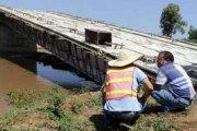 Kenya: deux semaines après son inspection, un pont construit par les Chinois s'effondre.