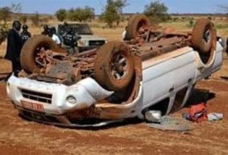 Ouahigouya : Le véhicule de la Haut commissaire de la province du Loroum s'est renversé ce matin