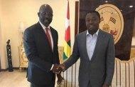 Liberia: Présidentielle, le candidat Georges Weah en visite à Lomé