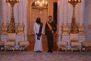 Burkina Faso - Grand-Duché de Luxembourg:  Jacqueline Marie Zaba/Nikiéma présente ses lettres de créances au Grand-Duc Henri de Nassau de Luxembourg