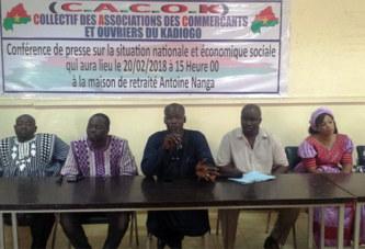 Commerçants et ouvriers du Kadiogo: «le gouvernement a décidé de sacrifier les petits commerçants…»