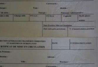 Burkina: Pénuries de formulaire de demande et d'imprimés de carte grise, permis de conduire et autres
