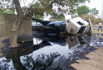 Burkina – Zorgo: accident d'un camion citerne qui déverse son contenu
