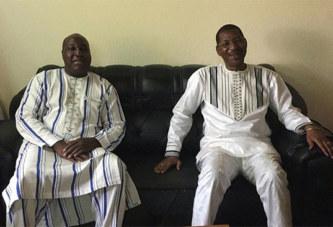 Politique: Le Président de l'Assemblée nationale, Alassane Bala Sakandé rend visite au chez le Chef de file de l'Opposition politique