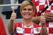 Coupe du monde: la présidente croate, supportrice la plus déchaînée du Mondial