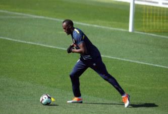 Usain Bolt entame sa carrière de footballeur