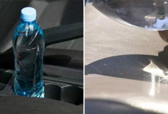 Voiture au soleil + bouteille d'eau = risque d'incendie: Explication