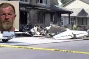 Il écrase son avion dans sa maison pour tuer sa femme et son fils