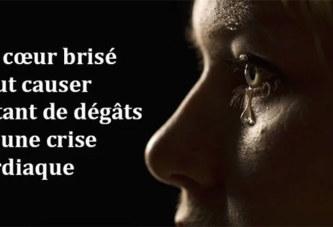 Un cœur brisé peut causer autant de dégâts qu'une crise cardiaque