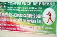 Confédération Nationale de la Culture du Burkina Faso:L'Appel des acteurs culturels pour la paix et la sécurité au Burkina Faso