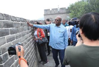 Le président du Faso sur les hauteurs de la Grande Muraille de Chine