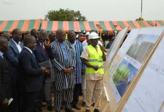 Les présidents Kaboré et Weah lancent la voie de contournement de Ouagadougou