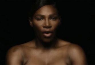 Serena Williams pose seins nus pour sensibiliser contre le cancer-VIDEO