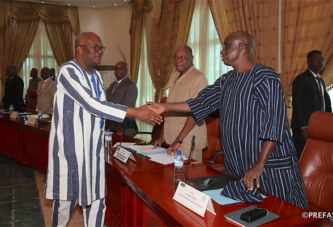 Justice: le président du Faso rencontre le CSM