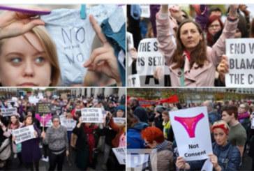 Arrêt sur images: Des Irlandaises brandissent des strings après l'acquittement d'un homme accusé de viol