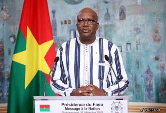 Message à la Nation du Président Roch Marc Christian Kaboré  à l'occasion  du nouvel An 2019