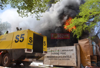 Incendie des stocks de la librairie Diacfa : d'importants dégâts matériels et un «léger» blessé