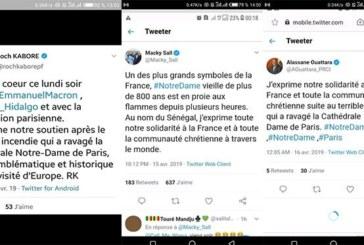 Incendie de Notre-Dame de Paris : Les chefs d'État africains critiqués pour leurs messages de soutien
