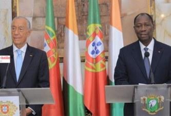 Côte d'Ivoire : Ouattara revient encore sur sa candidature en 2020 avec le Président portugais