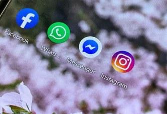 WhatsApp, Instagram, Messenger: une panne touche l'ensemble des services de Facebook