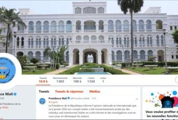 Le compte de la Présidence du Mali « piraté » sur Twitter