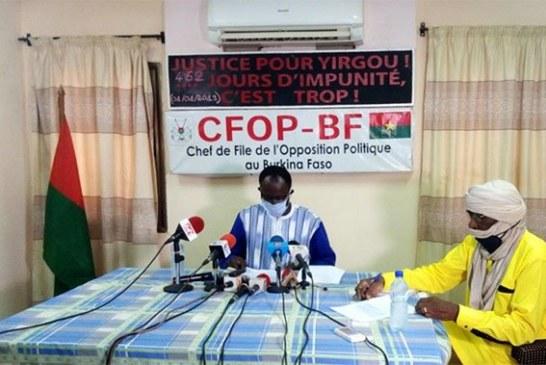 Burkina Faso: Pour l'opposition, «piller au maximum un pays au bord du gouffre, s'enrichir dans la maladie et le deuil semble être le crédo de ce régime de la désolation»