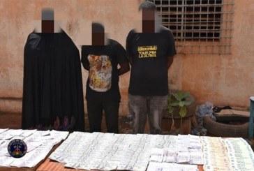 Lutte contre l'insécurité urbaine : De présumés escrocs de faux monnayage dans les filets de la Police Nationale