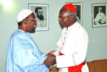 Audience à l'Archevêché de Ouagadougou:   Un cheick et un pasteur chez le Cardinal Philippe Ouédraogo