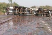 Axe Bobo-Dioulasso-Ouagadougou:  Un camion-citerne se renverse et bloque la circulation