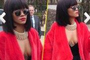 Rihanna se pavane dans les rues de Paris, poitrine out. Regardez