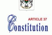 Débat sur l'article 37: La confrontation se précise