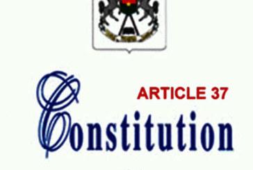 Référendum sur l'article 37 de la Constitution: Le recours au constituant originel n'est pas illégitime