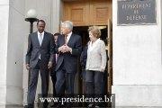 Le Président du Faso s'entretient avec le secrétaire d'Etat américain à la Défense