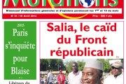N°51 du 15 avril 2014 du   journal Mutations - Situation politique au Burkina, Paris s'inquiète pour Blaise