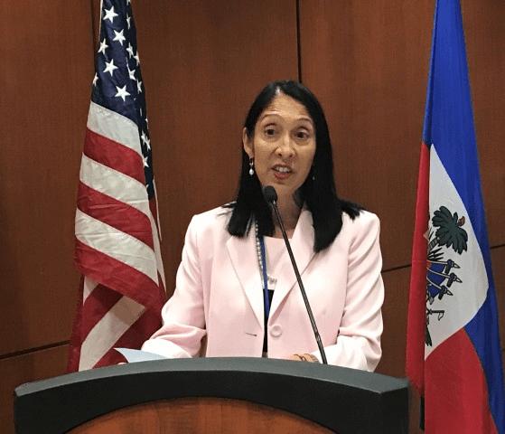 Message de l'Ambassadeur des États-Unis en Haiti Michele J. Sison à Jovenel Moise