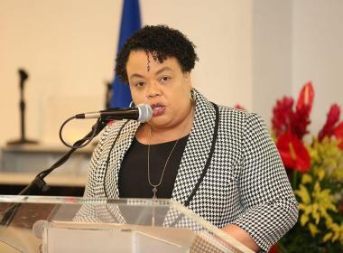 Dr. Marie Gréta Roy Clément, Ministre de la Santé Publique et de la Population.