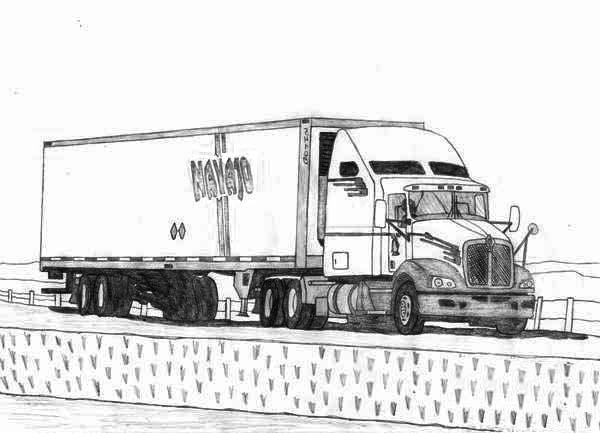 18 Wheeler Semi Truck Coloring Page Netart