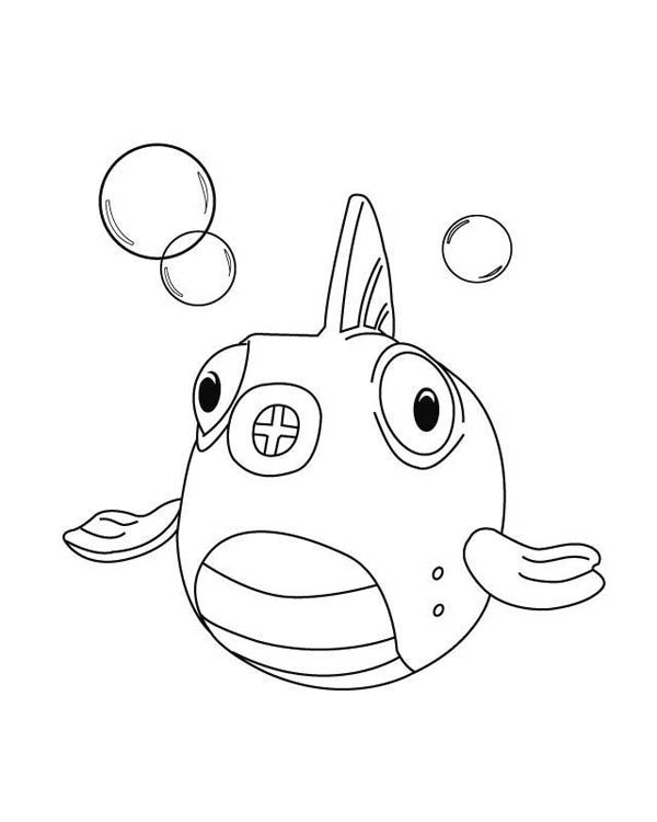 Squakers The Fish In Doc Mcstuffins Coloring Page Netart