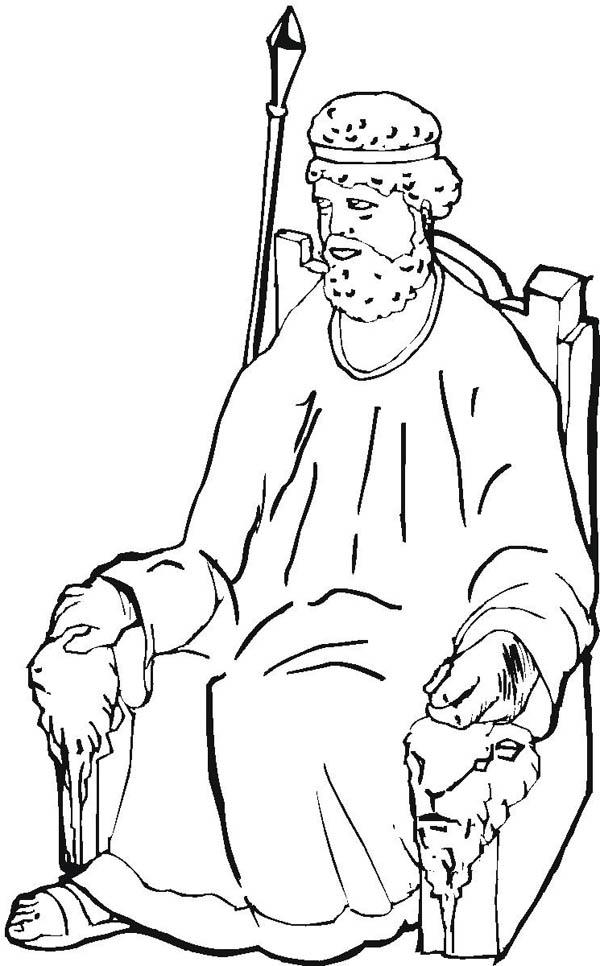 The Throne Of King Samuel Coloring Page NetArt