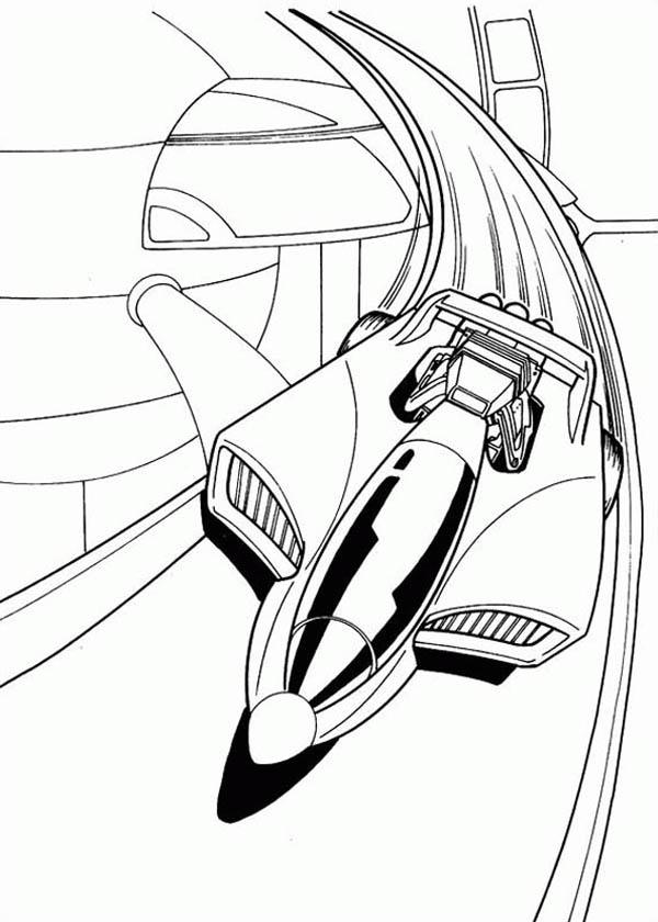 Hot Wheels Futuristic Car Coloring Page NetArt